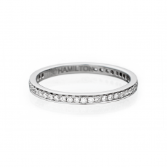 Heritage 18k White Gold and Pave Diamond Band