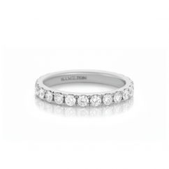 Lisette 18k White Gold 1.10TW Diamond Eternity Band