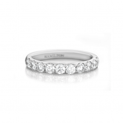 Lisette 18k White Gold 1.00 Diamond Band