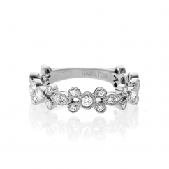 Heritage 18k White Gold and Diamond 3/4 Way Band
