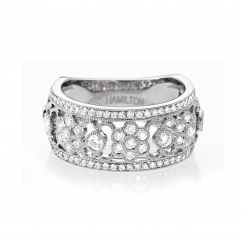 Heritage 18k White Gold and Diamond .82ct Band