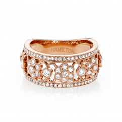 Heritage 18k Gold and Diamond .82ct Band