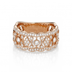 Heritage 18k Rose Gold and 133 Diamond Band