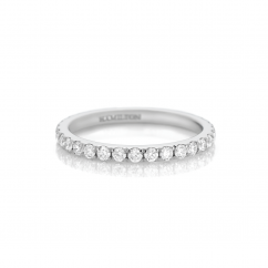 Lisette 18k White Gold .65 Diamond Eternity Band
