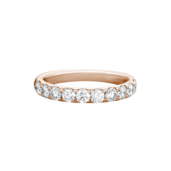 Lisette 18k Rose Gold .50 Diamond Band