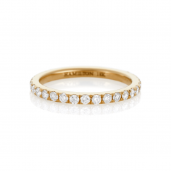 Lisette 18k Yellow Gold and .60 Diamond Eternity Band