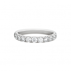 Lisette 18k White Gold .50 Diamond Band