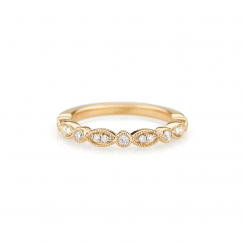 Heritage 18k Yellow Gold and .14ct Diamond Band