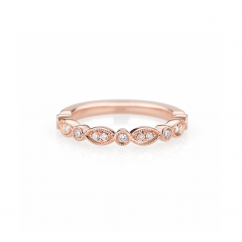 Heritage 18k Rose Gold and .14ct Diamond Band