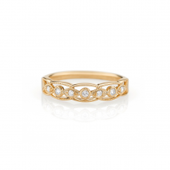 Heritage 18k Gold and .08 CT Diamond Band