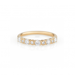 Heritage 18k Yellow Gold and .51 CT Diamond Band