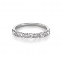 Heritage18k White Gold and .50TW Diamond Band