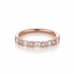 Heritage 18k Rose Gold and .50TW Diamond Band
