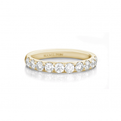 Lisette 18k Yellow Gold .50 Diamond Band 3/4 Way Around