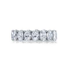 18k White Gold and Oval 4TW Diamond Eternity Band