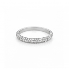 Grace 18k White Gold and Diamond Band