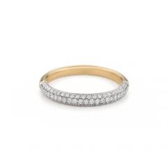 Grace 18k Yellow and Diamond Band