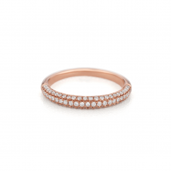 Grace 18k Rose Gold and Diamond Band