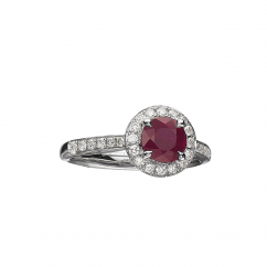 Lisette 18k Ruby and Diamond Ring