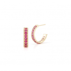 Barbela Design 14k Gold and Pink Sapphire Georgie Earrings