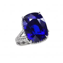 Private Reserve Platinum and Ceylon Sapphire Ring
