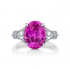 Private Reserve Platinum and 5.16CT Pink Sapphire Ring