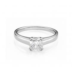 Hamilton Cherish Solitaire 18k Gold and 1.00CT Cushion Diamond RIng