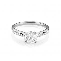 Hamilton Cherish Micro Prong 18k Gold and 1.50CT Diamond Ring