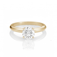 The Hamilton Select 1 CT I-J/SI 14k Yellow Gold Diamond Engagement Ring GIA Certified