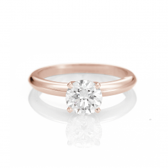 The Hamilton Select 1.00 Carat I-J/SI 14k Rose Gold Engagement Ring GIA Certified