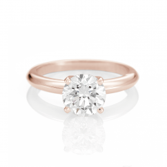 The Hamilton Select 2.00 CT I-J/SI 14k Rose Gold Engagement Ring GIA Certified
