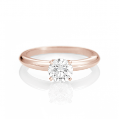 The Hamilton Select .50 Carat I-J/SI 14k Rose Gold Engagement Ring GIA Certified
