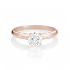 The Hamilton Select .75 Carat I-J/SI 14k Rose Gold Engagement Ring GIA Certified