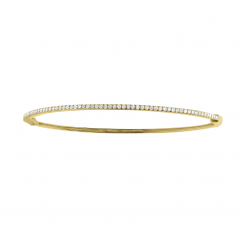 Classic 14k Yellow Gold and Diamond Bangle