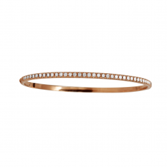 Classic 18k Rose Gold and 1.00 ct. Diamond Bracelet