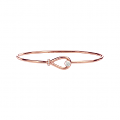 Classic 18k Rose Gold and Diamond Bracelet