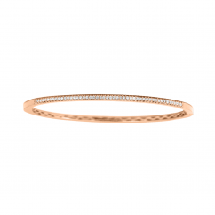 Classic 14k Rose Gold and .35ct Diamond Bracelet