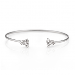 Fleur 18k White Gold and Diamond Bracelet