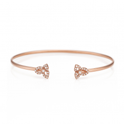 Fleur 18k Rose Gold and Diamond Bracelet