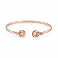 Hamilton Eternity 18k Rose Gold and Diamond Bracelet