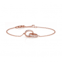 Hamilton Eternity Diamond and 18k Rose Gold Bracelet