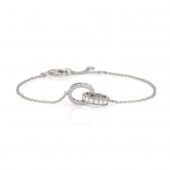 Hamilton Eternity Diamond and 18k White Gold Bracelet