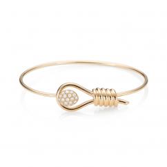 1970's 18k Gold and Diamond Bracelet