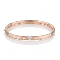 Fleur Diamond and 18k Rose Gold Bracelet