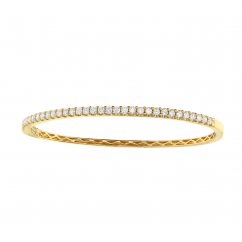 Classic Diamond and 18k Yellow Gold Bracelet