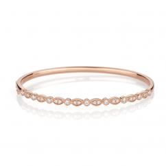 Heritage 18k Rose Gold and .54TW Diamond Bangle Bracelet