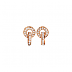 Hamilton 18k Rose Gold and Diamond Eternity Earrings