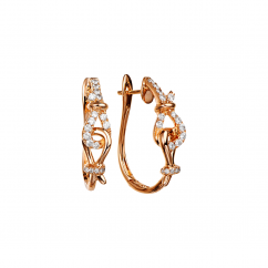 Love Knot 18k Rose Gold and Diamond Earrings