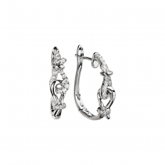 Love Knot Diamond and 18k Gold Earrings