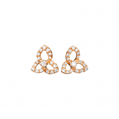 Fleur 18k Rose Gold and Diamond Earrings